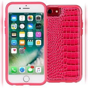 Accessories - iPhone 7 Pink Slim Crocodile Hard Back Case